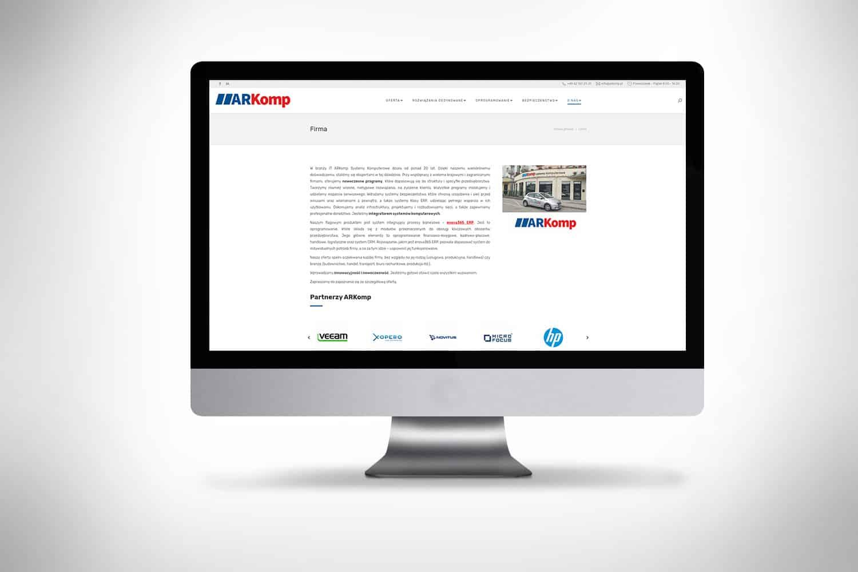 Strona www dla firmy Poznań i Kalisz