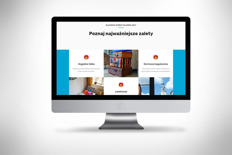 Strona internetowa dla Hostelu