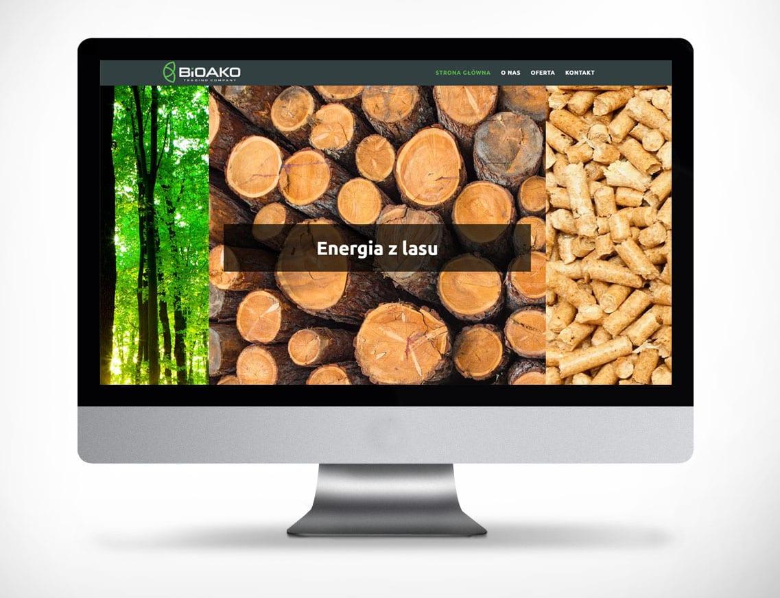 Strona www zielona