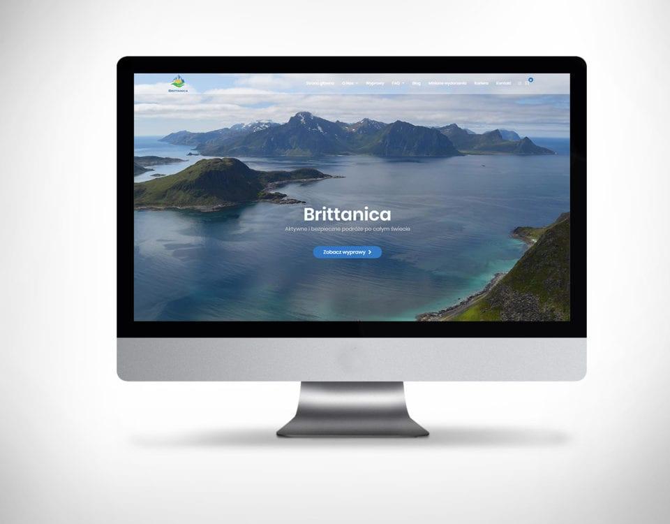 Strona internetowa dla biura podróży