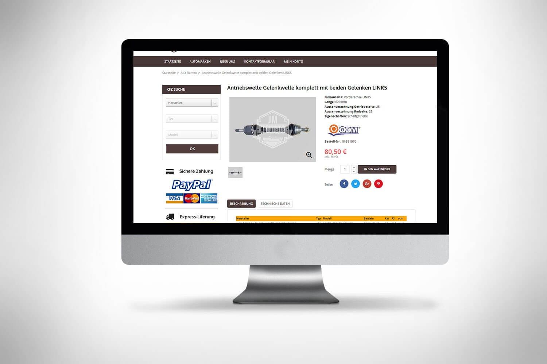 Sklep Prestashop sprzedaż części samochodowych