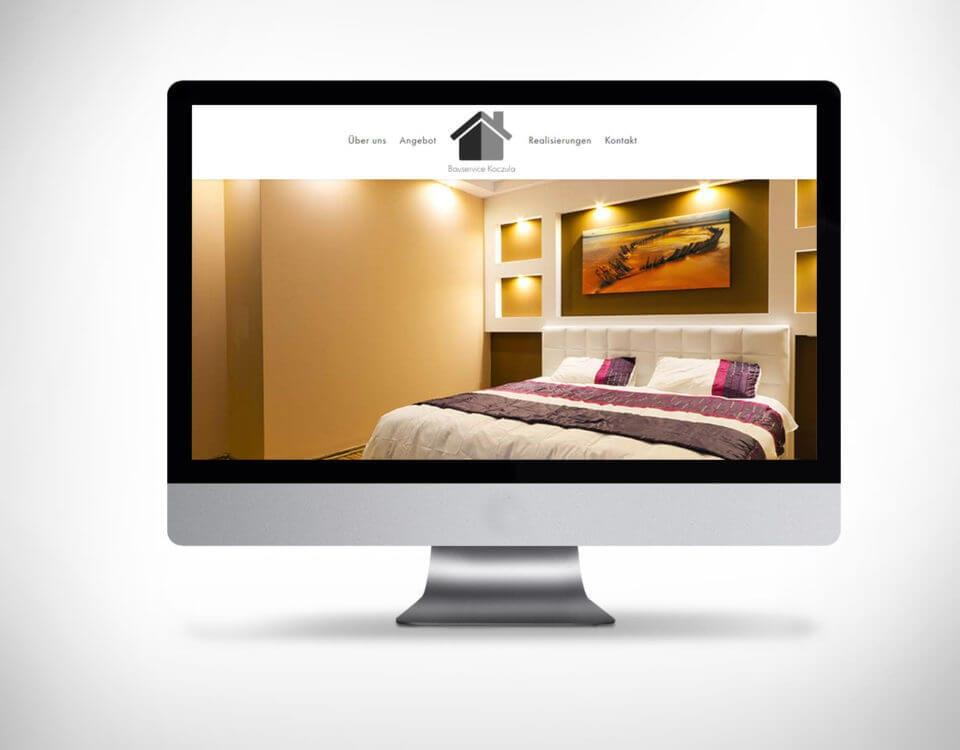 Strona budowlana dla firmy z Niemiec