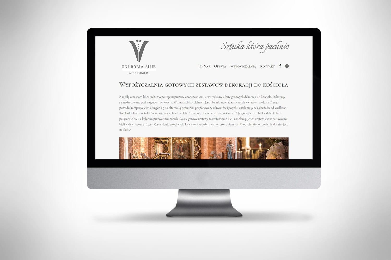 Strona www dla kwiaciarni