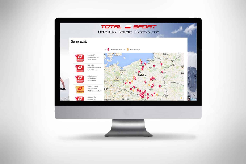 Mapa lokalizacji sklepów na stronie www