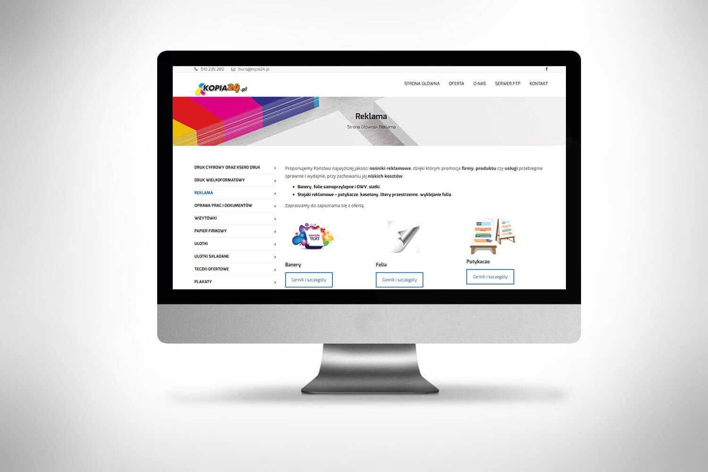 Strona dla firmy drukarskiej