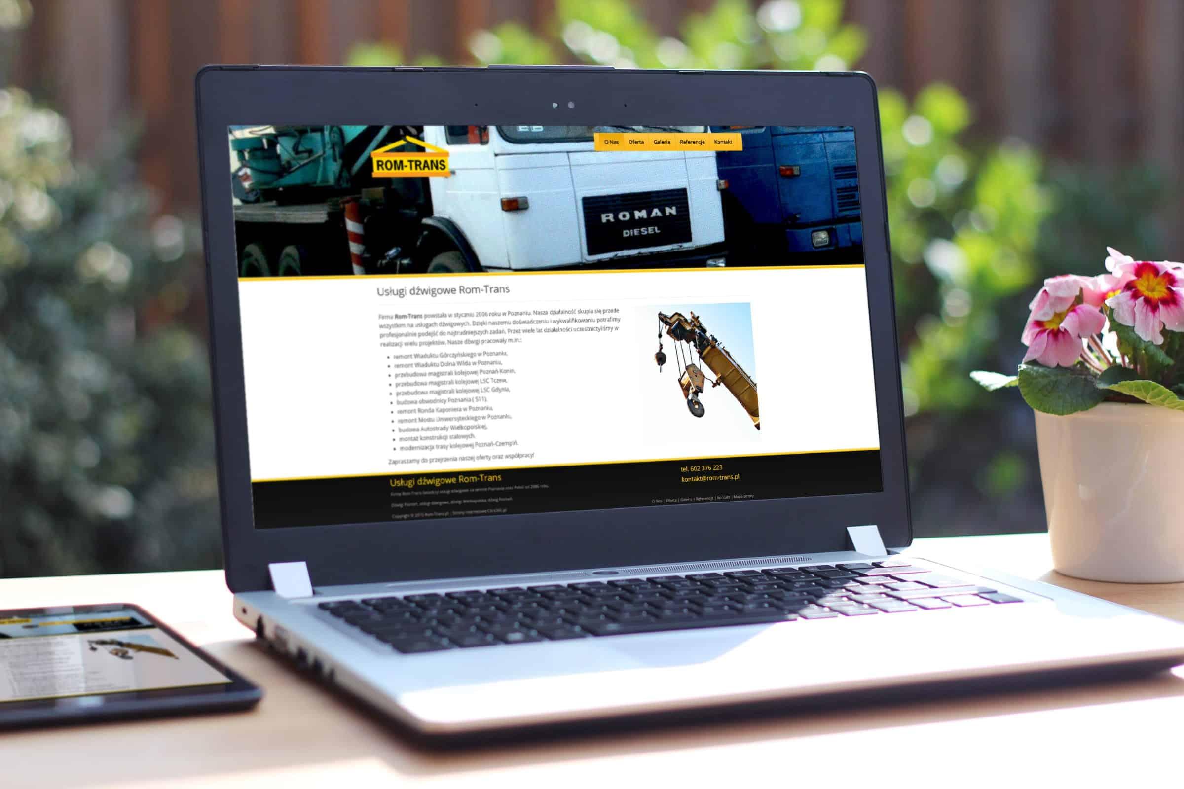 Strona internetowa dźwigi