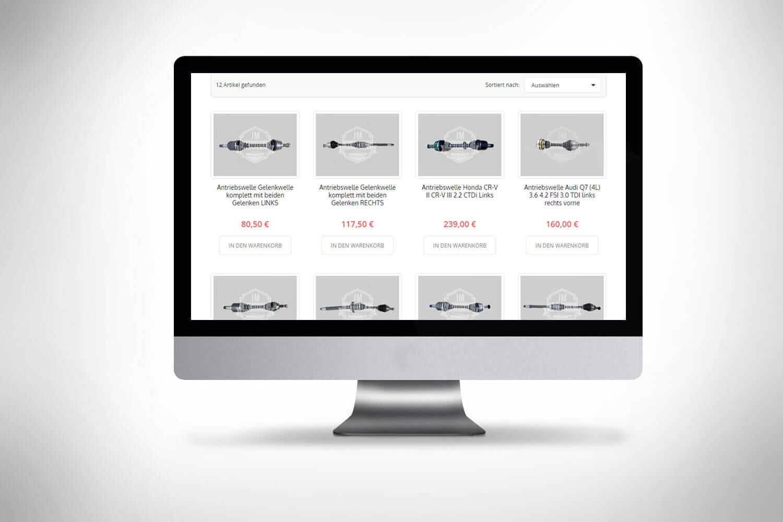 Sklep www części samochodowe projektowanie