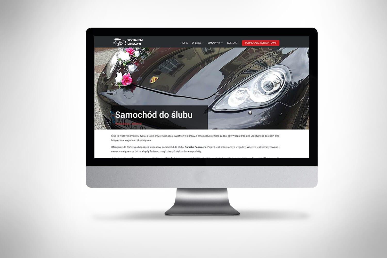 Wynajem samochodów - projektowanie strony www