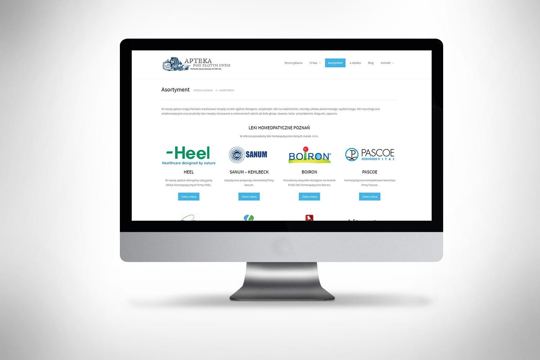 strona internetowa dla apteki