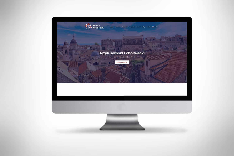 strona internetowa dla przedsiębiorcy tłumacz