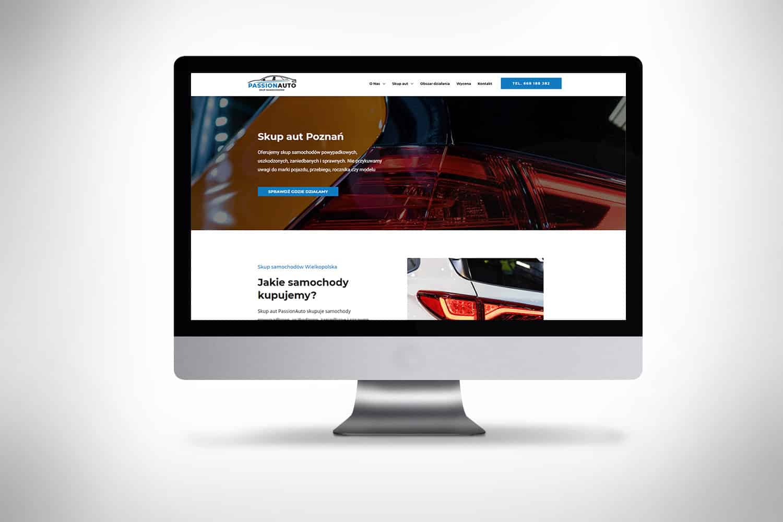 strona internetowa dla skupu samochodów