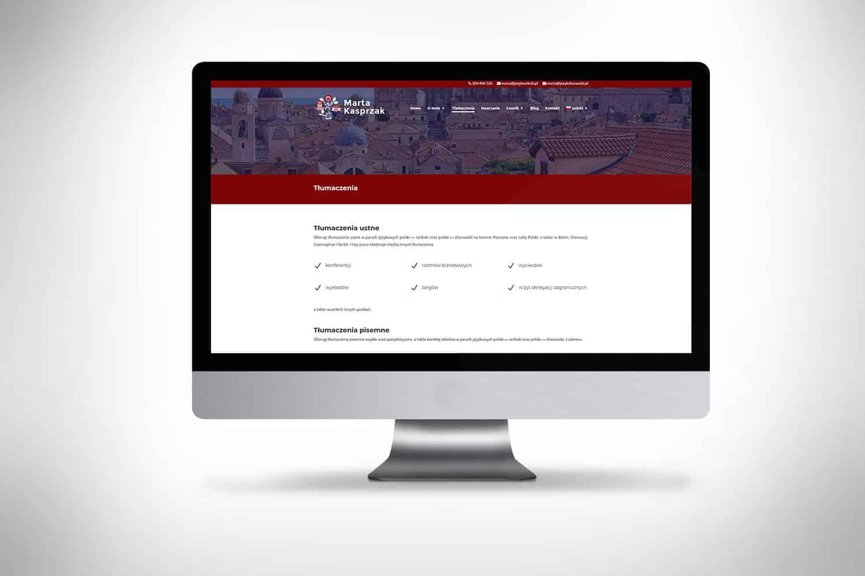 strona internetowa dla tłumacza języka chorwackiego