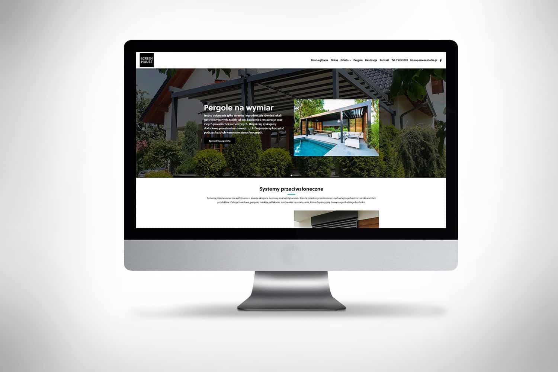 Strona www dla producenta rolet i pergoli ogrodowych